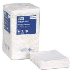 Universal Beverage Napkin, 1-Ply,9.125x9.125, 1/4 Fold,Poly-Pack,White, 4000/CT