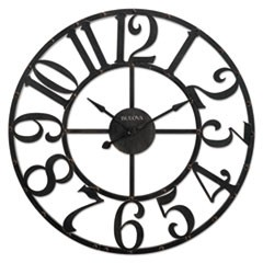 "Gabriel Wall Clock, 45"" Diameter, Rustic Brown"