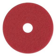 "Buffing Floor Pads, 13"" Diameter, Red, 5/Carton"