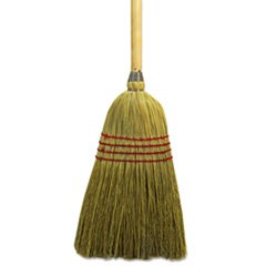 "Maid Broom, Mixed Fiber Bristles, 55"" Long, Natural"
