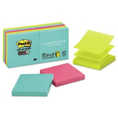 Pop-up 3 x 3 Note Refill, Miami, 90 Notes/Pad, 10 Pads/Pack