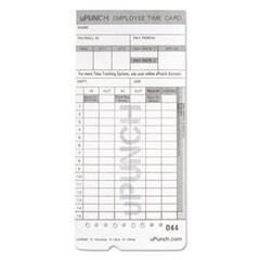 Time Card for uPunch, HN2000, HN4000, HN4600 Bundle, 100/Pk