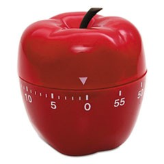 "Shaped Timer, 4"" dia., Red Apple"
