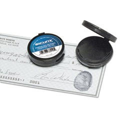 "Fingerprint Ink Pad, 1 1/2"" Diameter, Black"
