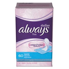 Thin Daily Panty Liners, 60/Pack, 12 Pack/Carton