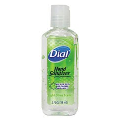 Scented Antibacterial Hand Sanitizer, 2 oz, Light Citrus