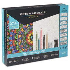 Complete Toolkit with Colored Pencils and 8 Page Coloring Book