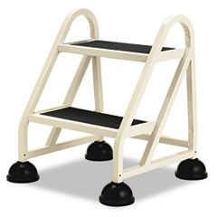 "Stop-Step Ladder, 23"" Working Height, 300 lbs Capacity, 2 Step, Beige"