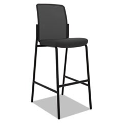 Instigate Mesh Back Multi-Purpose Stool, Supports up to 250 lbs., Black Seat/Black Back, Black Base, 2/Carton