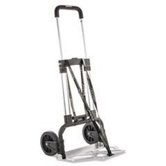 Portable Slide-Flat Cart, 275lbs, 18 3/4 x 19 x 40, Black/Charcoal