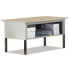 Mailflow-To-Go Mailroom System Table, 60w x 30d x 36h, Pebble Gray