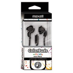 Colorbuds with Microphone, Black