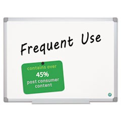 Earth Gold Ultra Magnetic Dry Erase Boards, 48 x 72 White, Aluminum Frame