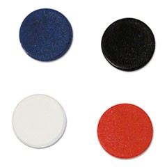 "Interchangeable Magnetic Board Accessories, Circles, Assorted, 3/4"", 10/Pack"