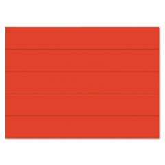"Dry Erase Magnetic Tape Strips, Red, 6"" x 7/8"", 25/Pack"