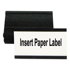 "Magnetic Card Holders, 3""w x 1 3/4""h, Black, 10/Pack"