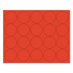 "Interchangeable Magnetic Board Accessories, Circles, Red, 3/4"", 20/Pack"