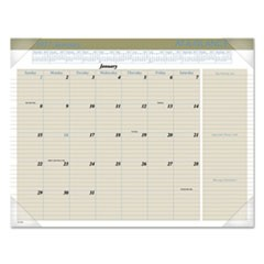 Executive Monthly Desk Pad Calendar, 22 x 17, Buff, 2017