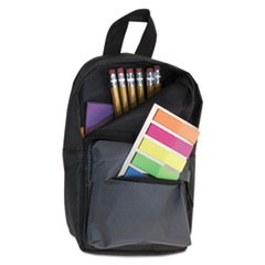 Backpack Pencil Pouch, 4 1/2 x 2 1/2 x 7 3/4, Black