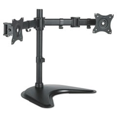 Dual Monitor Articulating Desktop Stand, 32w x 13d x 17.5h, Black