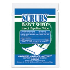 Insect Shield Insect Repellent Wipes, 8 x 10, White, 100/Carton