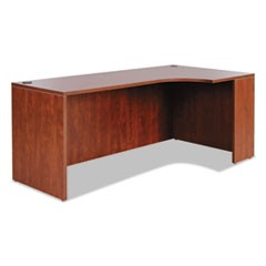 Alera Valencia Right Corner Credenza Shell, 70 7/8w x 35 3/8d x 29 1/2h, Medium Cherry