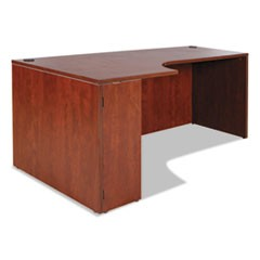 Alera Valencia Left Corner Credenza Shell, 70 7/8w x 35 3/8d x 29 1/2h, Medium Cherry