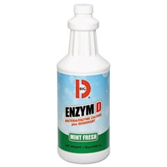Enzym D Digester Deodorant, Mint, 1qt, Bottle, 12/Carton