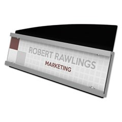 Interior Image Sign Holder, Landscape, 8 1/2 x 2 Insert, Black/Silver