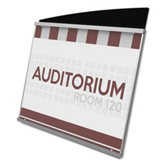 Interior Image Sign Holder, Landscape, 10 3/8 x 7 5/8 Insert, Black/Silver