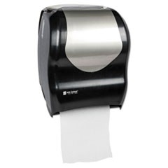 Tear-N-Dry Touchless Roll Towel Dispenser, 16 3/4 x 10 x 12 1/2, Black/Silver