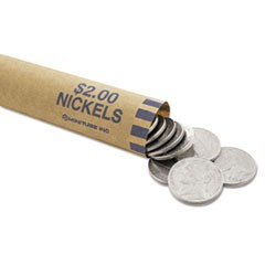 Nested Preformed Coin Wrappers, Nickels, $2.00, Blue, 1000 Wrappers/Box