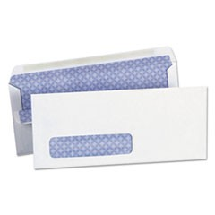 Self-Seal Business Envelope, #10, Square Flap, Self-Adhesive Closure, 4.13 x 9.5, White, 500/Box