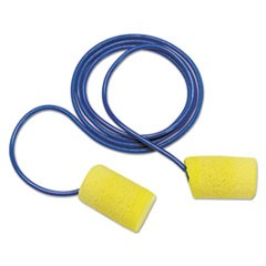E�A�R Classic Earplugs, Corded, PVC Foam, Yellow, 200 Pairs