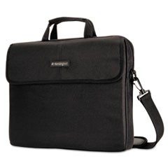 "15.6"" Simply Portable Padded Laptop Sleeve, Inside/Outside Pockets, Black"