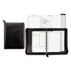 Recycled Bonded Leather Starter Set, 8 1/2 x 5 1/2, Black Cover