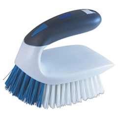 "2-in-1 Iron Handle Brush, 2"" Bristles, 3"" Handle, White"