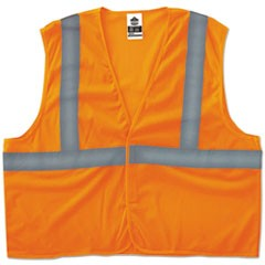GloWear 8205HL Type R Class 2 Super Econo Mesh Vest, Orange, S/M