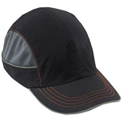 Skullerz 8950 Bump Cap, Long Brim, Black