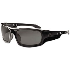 Skullerz Odin Safety Glasses, Black Frame/Smoke Lens, Nylon/Polycarb
