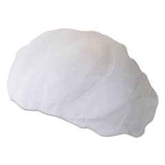Disposable Hairnets, Nylon, Large, White, 100/Pack