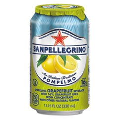 Sparkling Fruit Beverages, Pompelmo (Grapefruit), 11.15 oz Can, 12/Carton
