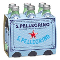Sparkling Natural Mineral Water, 8 oz Bottle, 24/Carton