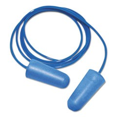 Detectable Earplugs, Corded, Blue