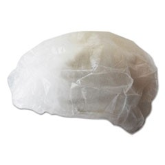Disposable Bouffant Caps, White, Medium, 100/Pack