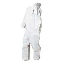 Disposable Coveralls, White, Small, Polypropylene, 25/Carton