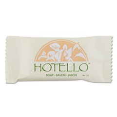 Hotello Bar Soap, 0.9 oz, Individually Wrapped, 1000/Carton