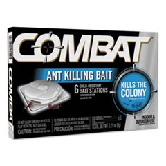 Combat Ant Killing System, Child-Resistant, Kills Queen and Colony, 6/Box, 12 Boxes/Carton
