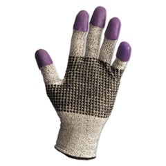 G60 Purple Nitrile Gloves, 230 mm Length, Medium/Size 8, Black/White, Pair