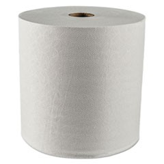 "Hard Roll Towels, 1.5"" Core, 8 x 425ft, White, 12 Rolls/Carton"
